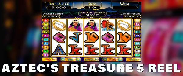 AZTEC'S TREASURE แบบ SLOT 5-REEL